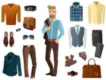 Fashion Man Set Stock Image