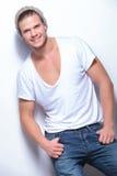 Fashion man shows big smile Royalty Free Stock Image