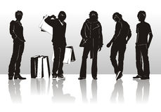 Fashion man silhouettes Royalty Free Stock Images