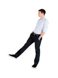 Fashion Man standing over white Stock Photos