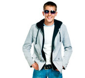 Fashion man in sunglasses Royalty Free Stock Photo