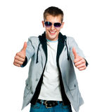 Fashion man in sunglasses Royalty Free Stock Images