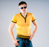 Fashion man in sunglasses Royalty Free Stock Photos