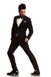 Fashion man in tuxedo looking to side Royalty Free Stock Images