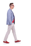 Fashion man walking forward Stock Photos