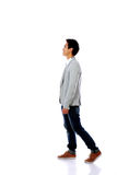 Fashion man walking forward Stock Photography