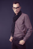 Fashion man wearing scarf Stock Photo