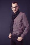 Fashion man wearing scarf Stock Photo