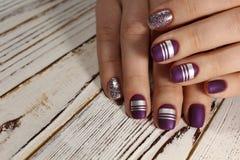 fashion manicure on beautiful hands stock image