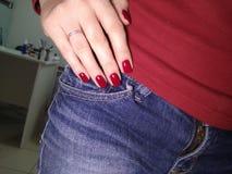 fashion manicure of nails stock photos