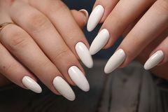 fashion manicure of nails royalty free stock images