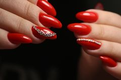 fashion manicure of nails royalty free stock photos