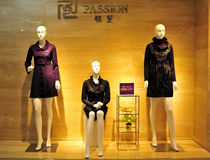 Fashion Mannequin Display Stock Photo