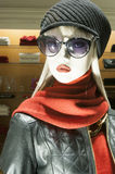 Fashion mannequin. Display mall retail shopping luxury gift window Stock Image
