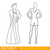 Fashion mannequin icon. Editable vector graphic in linear style Royalty Free Stock Photo