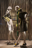 Fashion mannequin showcase display shopping retail. Fashion luxury showcase display shopping retail stock photo