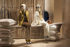 Fashion mannequin showcase display shopping retail. Fashion luxury showcase display shopping retail stock images