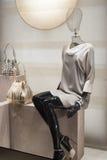 Fashion mannequin showcase display shopping retail. Fashion luxury showcase display shopping retail royalty free stock photo