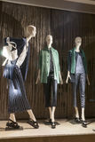 Fashion mannequin showcase display shopping retail. Fashion showcase display shopping retail mlothing stock images