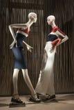 Fashion mannequin showcase display shopping retail. Fashion showcase display shopping retail mlothing royalty free stock image