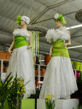 Fashion mannequins, Florist shop, Horticulture Royalty Free Stock Photos
