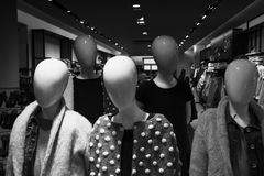 Fashion mannequins. In modern outlet Stock Photography