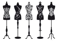 Fashion mannequins, vector set Stock Photos