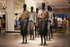 Fashion shop mannequins  interior boutique store Stock Photography