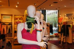 Fashion Manniquins in the Store Stock Photo