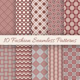 Fashion marsala color seamless pattern set. Vector Royalty Free Stock Photo