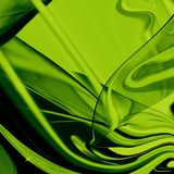 Fashion Material background. Shiny green fabric background, with waves and drapes Royalty Free Stock Photography