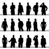 Fashion men. Vector set of fashion men silhouette Royalty Free Stock Images