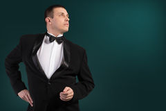 Fashion Men in Classic Tuxedo Royalty Free Stock Photo