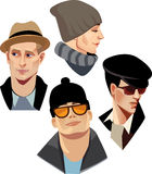 Fashion men in hats Royalty Free Stock Photos
