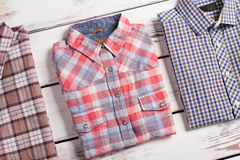 Fashion men's checkered shirt Stock Photo