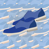 Fashion men shoes Royalty Free Stock Photography