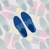Fashion men shoes illustration Stock Image