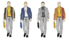 Fashion men Royalty Free Stock Images