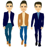 Fashion Men Walking Stock Photography