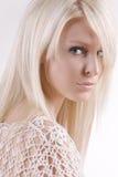 Fashion model. Portrait on white studio background royalty free stock photos
