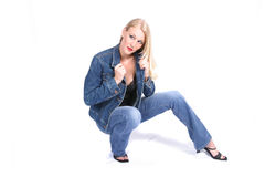Fashion Model. Posing royalty free stock photo