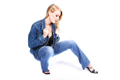 Fashion Model. Posing royalty free stock image