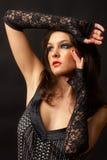 Fashion Model. Beautiful Fashion Model shot in studio stock images