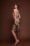 Fashion model. Fashion portrait of beautiful young blonde girl Stock Photo