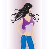 Fashion model. Vector illustration of fashion model Stock Images
