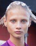 Fashion model Anna Selezneva beauty portrait in New York Royalty Free Stock Images