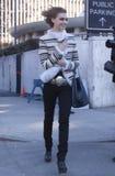 Fashion model Arizona Muse Street Style during Fashion Week Stock Image