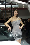 Fashion Model on Audi car Stock Images
