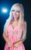 Fashion model with barbie doll  make-up Royalty Free Stock Images