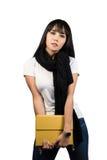 Fashion model,Beautiful woman in black scarf Stock Photography